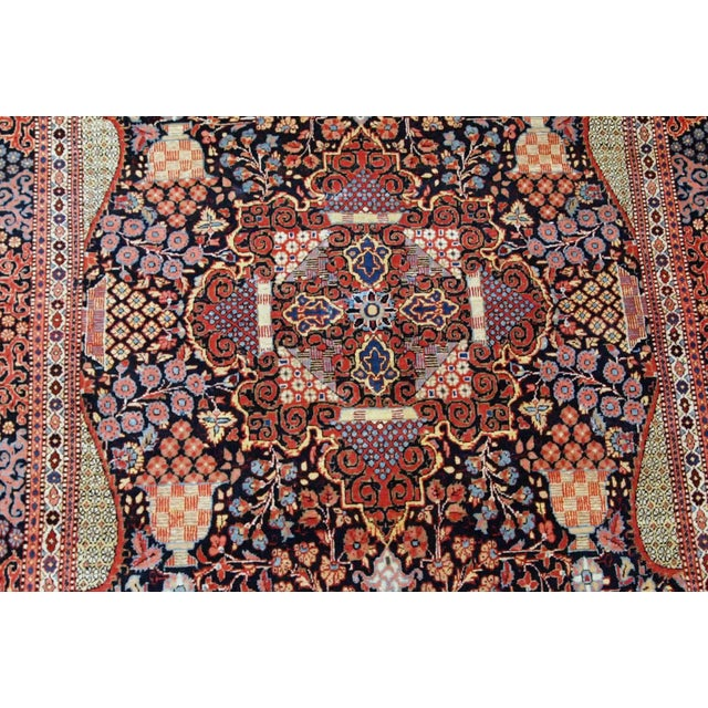 1880s, Handmade Antique Persian Dabir Kashan Rug 4.1' X 6.2' For Sale - Image 4 of 12