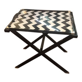 Contemporary Oscar De La Renta Lacquered Tray Table For Sale