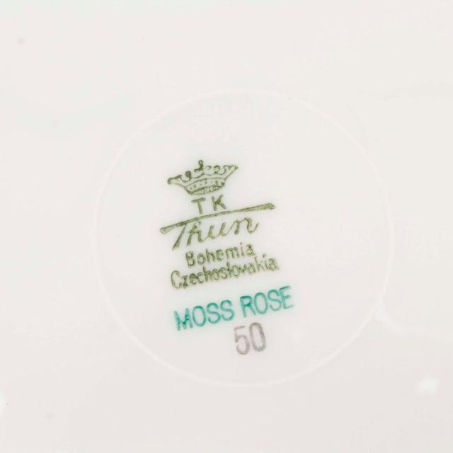 "Vintage 60s Dansico ""Teashouse Rose"" Fine China, Set of 10 For Sale In Los Angeles - Image 6 of 7"