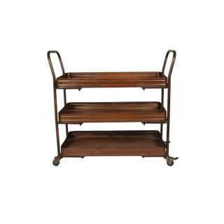 Cadence Wooden Kitchen Cart, Storage Rack for Kitchen, Rustic Home Furniture, Brown Color For Sale