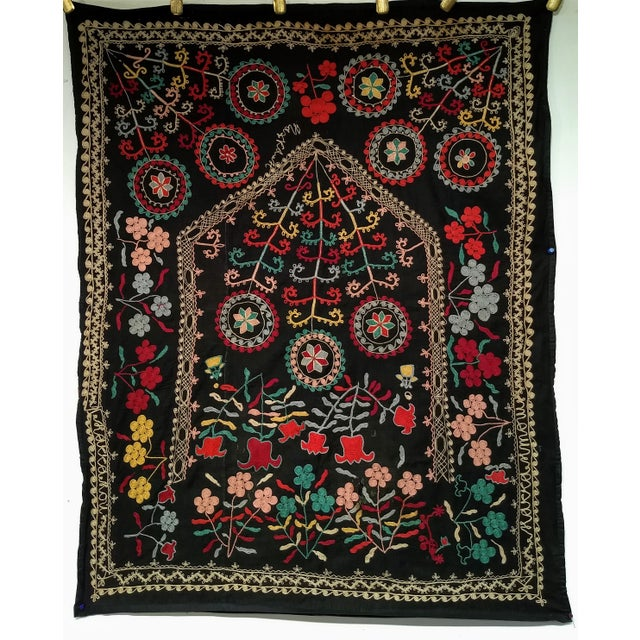"Late 1800s Hand-Stitched Suzani- 3' X 5' 3"" For Sale - Image 13 of 13"