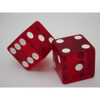 1960s Jumbo Red Casino Dice - a Pair Preview