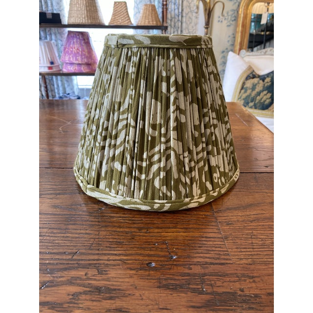 Maison Maison Army Green Gathered Lampshade For Sale - Image 4 of 4