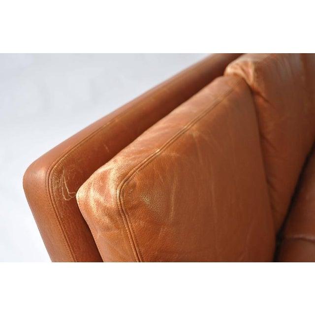 Fredrik Kayser Leather and Rosewood Sofa - Image 6 of 8