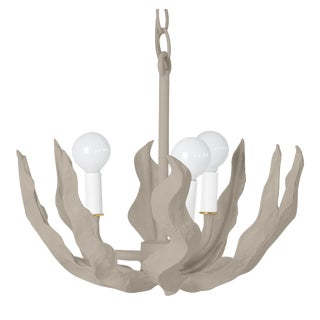 Stray Dog Designs for Chairish Margarita Small Chandelier, Gray For Sale