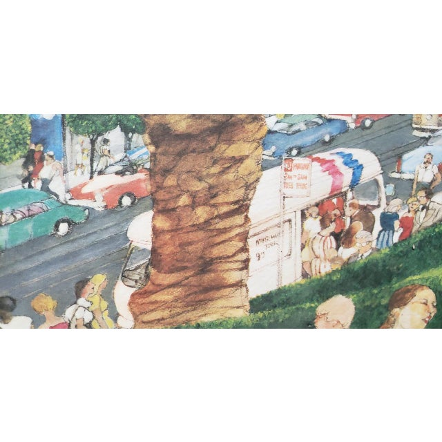 "Franklin McMahon ""Powell Street, San Francisco"" Original Watercolor C.1981 For Sale - Image 4 of 10"