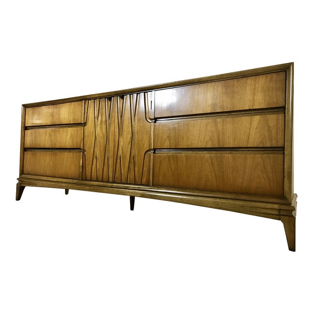 Mid-Century Nine Drawer Dresser - Image 1 of 11
