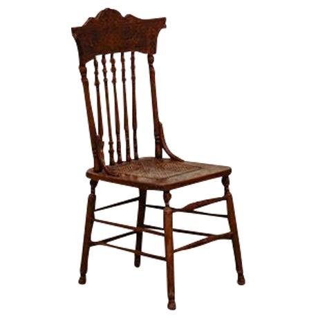 Vintage Press Back Chair - Image 1 of 4
