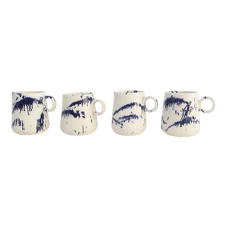 Ceramic Tapered Mugs - Set of 4 For Sale