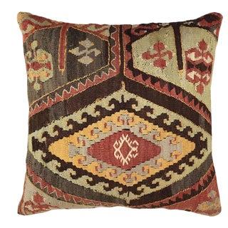 "MidCentury Turkish Kilim Pillow | 20"" For Sale"