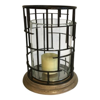 Vintage Modern Hurricane Candle Holder For Sale