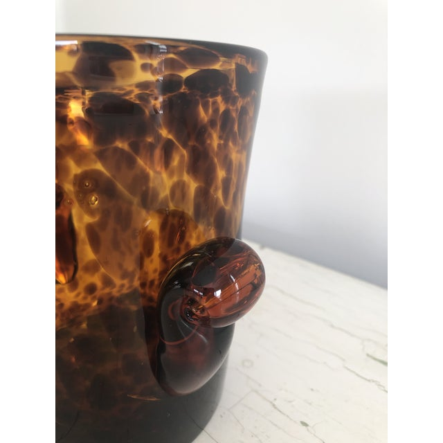 Mid 20th Century Vintage Handblown Tortoiseshell Glass Wine Cooler Ice Bucket For Sale - Image 4 of 6