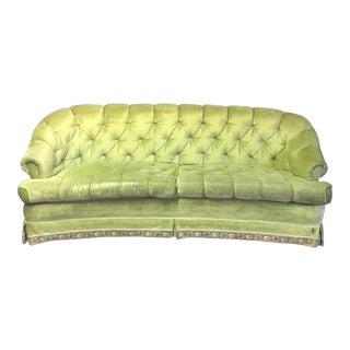 Vintage Tomlinson Green Curved Sofa