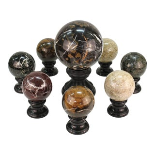 Stone and Marble Balls - Set of 8 For Sale