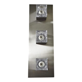 Sciolari Nickel Sconces or Flush Mounts (8 Available) For Sale