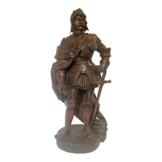 Antique 19th Century Mahogany Figure, Superb Example of Art of Carving. For Sale
