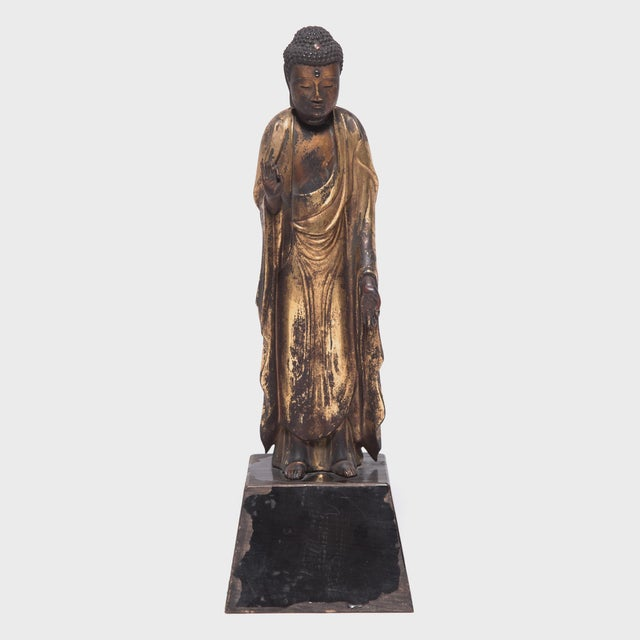 19th Century Japanese Gilt Standing Buddha For Sale In Chicago - Image 6 of 6