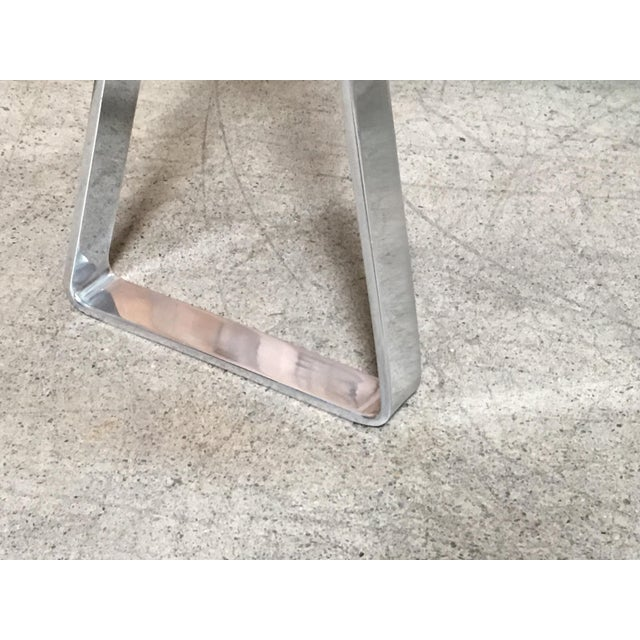 Silver Mid-Century Modern Mirrored Polished Aluminium Sawhorse Table Desk For Sale - Image 8 of 11