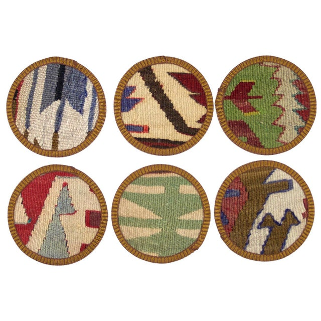 Fatimah Kilim Coasters - Set of 6 - Image 2 of 2