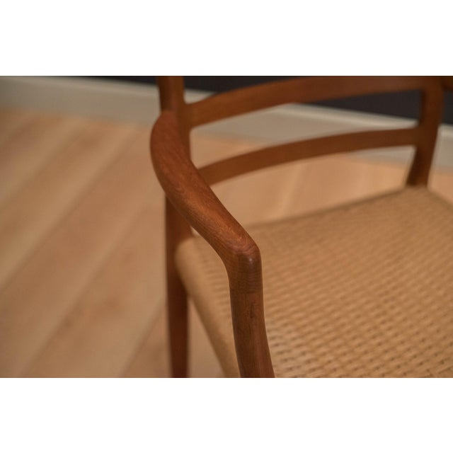 Vintage Mid Century Moller Model 85 Danish Teak Dining Chairs- Set of 8 For Sale - Image 9 of 12