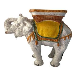 Vintage Elephant Garden Seat/Table For Sale