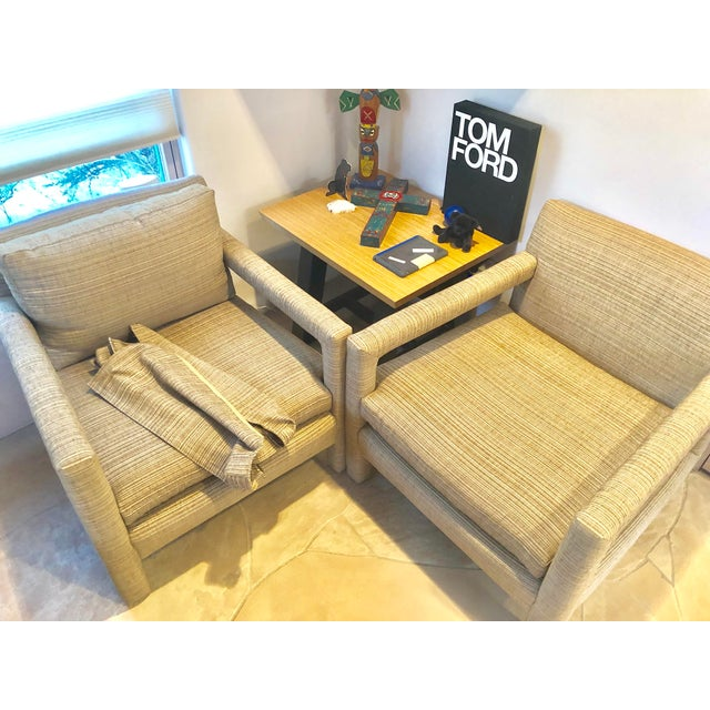 1970s Vintage Parsons Lounge Chairs - A Pair For Sale - Image 13 of 13