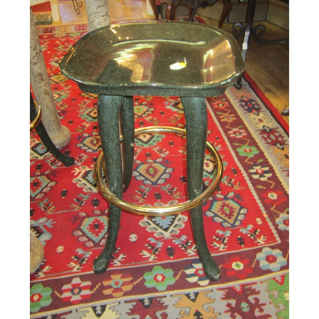 Marge Carson Elephant Bar Table And Stools For Sale - Image 5 of 5