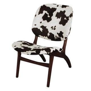 Swedish Mid-Century Modern Pony Hide Lounge Chair For Sale