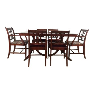 Federal Style Wood Dining Set