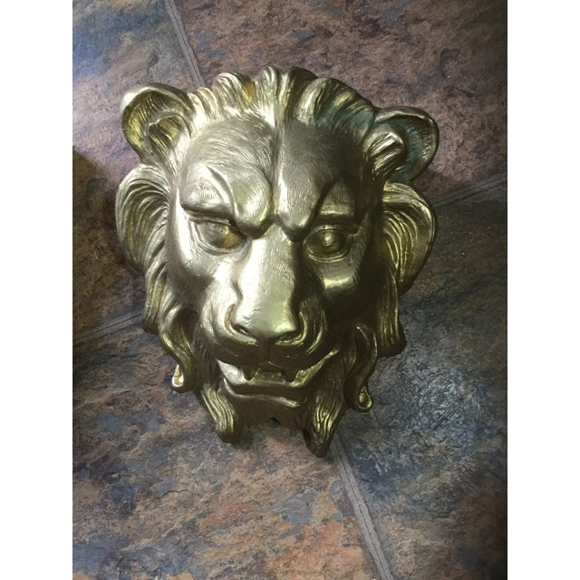 Majestic Golden Lion Wall Shelfs - a Pair - Image 5 of 10
