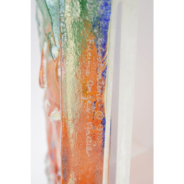 "1970s Vintage ""The Flutist"" Reuven Rubin & Egidio Constantini Art Glass Sculpture For Sale - Image 9 of 10"
