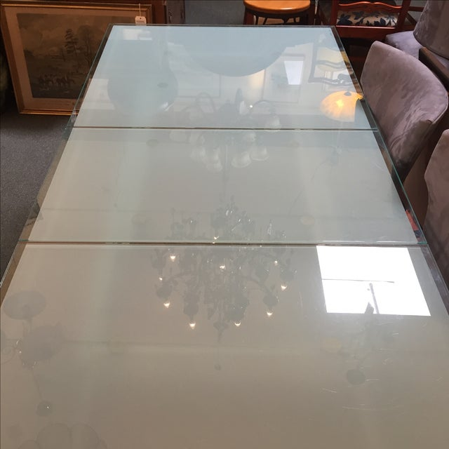 Calligaris Sandblasted Glass Extension Table - Image 5 of 9