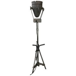 Industrial Cast Aluminum Adjustable Floor Lamp by Pyle Lighting Buck Rogers For Sale