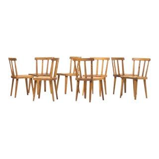 "Set of Eight ""Uto"" Chairs by Axel Einar Hjorth, Nordiska Kompaniet, Sweden, 1930 For Sale"