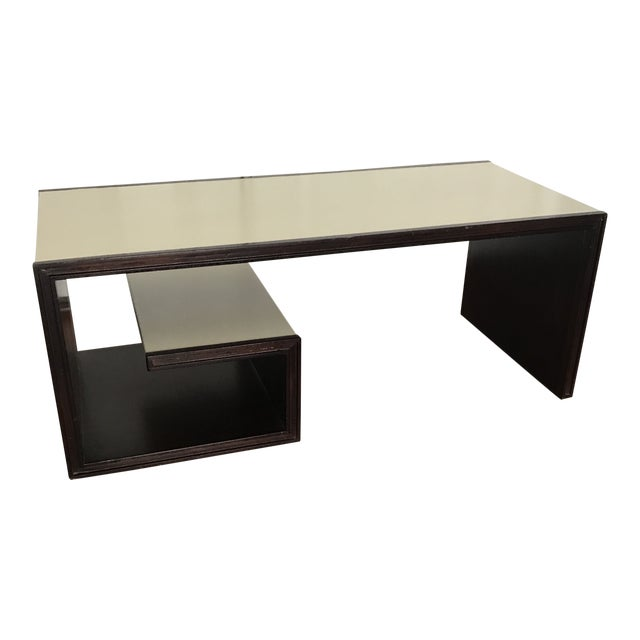 Contemporary Baker Furniture Thomas Pheasant Scroll Cocktail Table For Sale