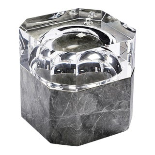 Grey Marble Ice Bucket