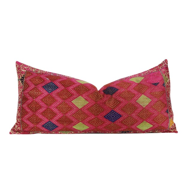Framed Diamond Antique Swati Pillow - Image 1 of 3