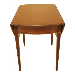 1940s Federal Kittinger Colonial Williamsburg Mahogany Pembroke Table For Sale