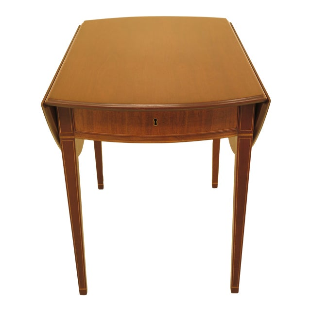 Image of 1940s Federal Kittinger Colonial Williamsburg Mahogany Pembroke Table