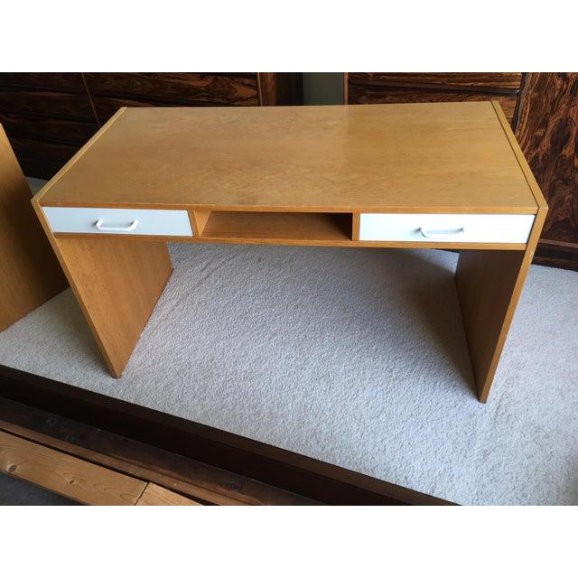 Danish Modern Mid-Century Teak & White Two-Drawer Desk For Sale - Image 13 of 13