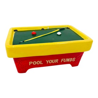"Vintage ""Pool Your Funds"" Piggy Bank For Sale"