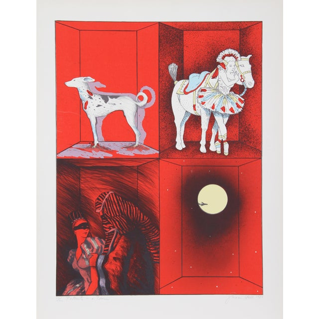 Susan Hall, Portraits in a Room, Lithograph For Sale