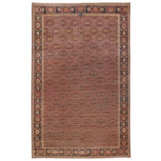 Exceptional Extremely Finely Woven Antique Herat Carpet For Sale