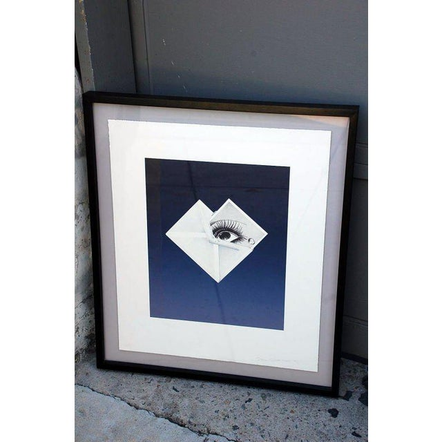 Mid 20th Century Surrealist Framed Print by Bruce Richards For Sale - Image 5 of 6