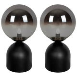 Image of Modern Mirrored Globe Table Lamps - a Pair For Sale