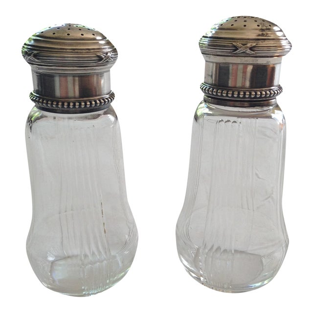 French Silver & Glass Sugar Shakers - A Pair - Image 1 of 11