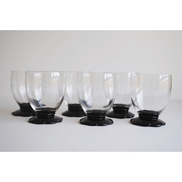 Black Scalloped Cocktail Glasses, Set of 6 - Image 2 of 8