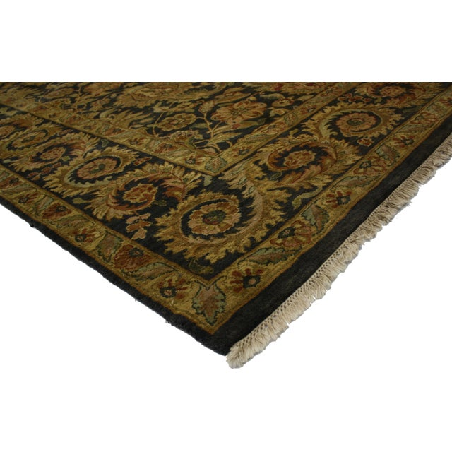 """Traditional Vintage Indian Rug - 9'3"""" X 11'8"""" For Sale - Image 3 of 3"""