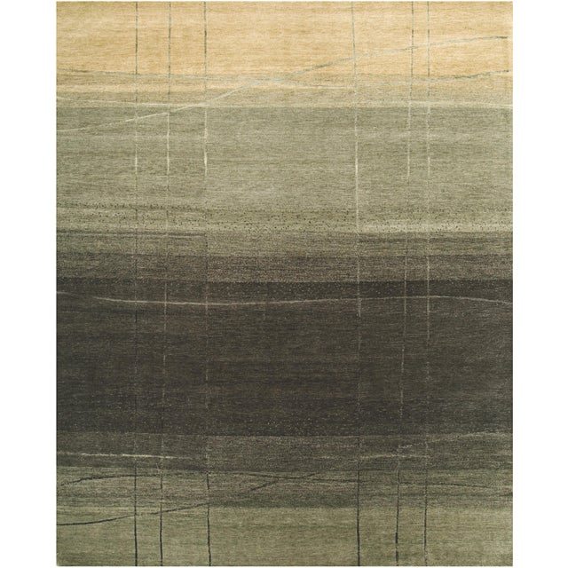 2010s ModernArt - Customizable Forest Night Rug (6x9) For Sale - Image 5 of 5