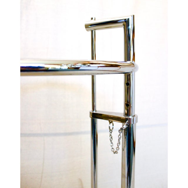20th Century Modern Eileen Gray Chrome and Glass Adjustable Side Table For Sale In Sacramento - Image 6 of 10